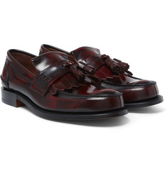 Church's Oreham Burnished-Leather Kiltie Tasselled Loafers