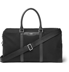 Hugo Boss Signature Leather-Trimmed Canvas Holdall