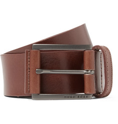 Hugo Boss 4cm Brown Sian Leather Belt