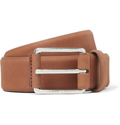 Hugo Boss - 3.5cm Tan Catios Nubuck Belt