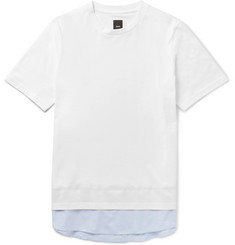 OAMC Poplin-Trimmed Cotton-Jersey T-Shirt