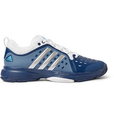 Adidas Sport Barricade Classic Bounce Coated-Mesh Tennis Sneakers