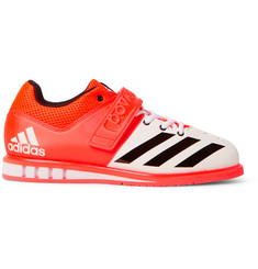 Adidas Sport Powerlift.3 Mesh-Panelled Faux Leather Sneakers
