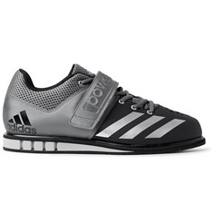 Adidas Sport - Powerlift.3 Mesh-Panelled Faux Leather Sneakers