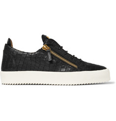 Giuseppe Zanotti Croc-Effect Leather Sneakers