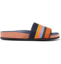 Paul Smith Striped Grosgrain Slides