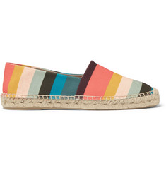 Paul Smith Sunny Striped Canvas Espadrilles