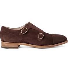 Paul Smith Atkins Suede Monk-Strap Shoes