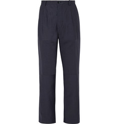 Helbers Pleated Cotton and Linen-Blend Ottoman Trousers