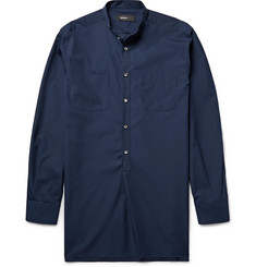 Helbers Grandad-Collar Cotton-Poplin Tunic