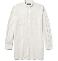 Helbers Grandad-Collar Striped Cotton Tunic