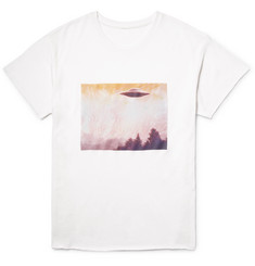 The Elder Statesman - Printed Cashmere and Silk-Blend T-Shirt