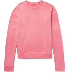 The Elder Statesman Oversized Loopback Cotton-Jersey Sweatshirt