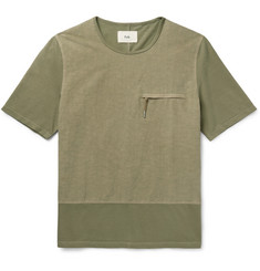 Folk - Slim-Fit Panelled Cotton T-Shirt