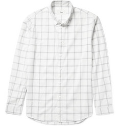 Folk Storm Windowpane-Checked Cotton-Voile Shirt