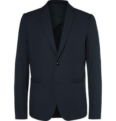 Folk Blue Counter Slim-Fit Cotton-Piqué Blazer