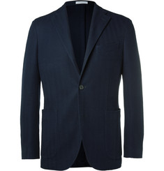 Boglioli Blue K-Jacket Cotton-Hopsack Blazer