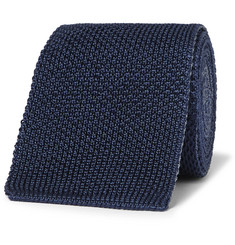 Boglioli - 6cm Reversible Knitted Silk Tie