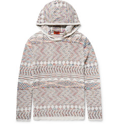 Missoni Crochet-Knit Cotton Hoodie