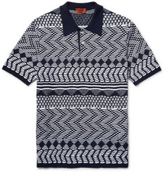 Missoni Crochet-Knit Cotton Polo Shirt