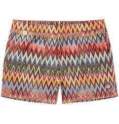 Missoni Slim-Fit Mid-Length Zigzag-Print Swim Shorts