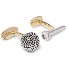 Paul Smith - Golf Ball and Tee Gold and Silver-Tone Cufflinks