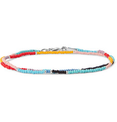 Paul Smith Glass Bead Silver-Tone Wrap Bracelet