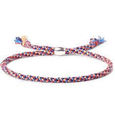 Paul Smith Woven Silk Silver-Tone Bracelet