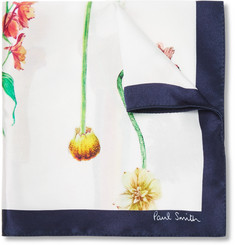 Paul Smith - Printed Silk Pocket Square