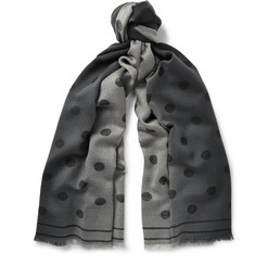 Paul Smith Polka-Dot Dégradé Wool Scarf