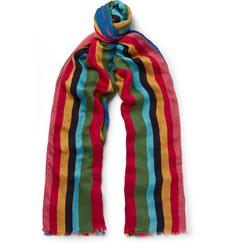 Paul Smith Mali Striped Voile Scarf