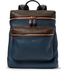 Paul Smith Colour-Block Leather Backpack