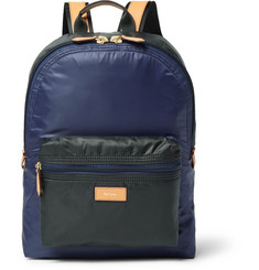 Paul Smith - Leather-Trimmed Two-Tone Shell Backpack