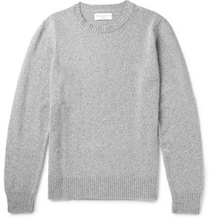 Officine Generale Marled Merino Wool and Cashmere-Blend Sweater