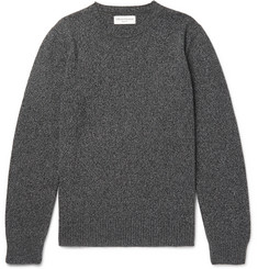 Officine Generale Mélange Wool and Cashmere-Blend Sweater