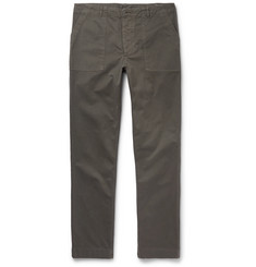 Officine Generale Slim-Fit Garment-Dyed Cotton-Twill Trousers