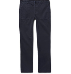 Officine Generale Garment-Dyed Cotton-Twill Trousers