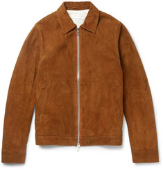 Officine Generale Slim-Fit Water-Repellent Suede Jacket