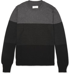 Officine Generale Colour-Block Merino Wool Sweater