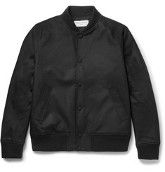 Officine Generale Leon Water-Resistant Wool-Blend Bomber Jacket