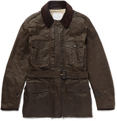 Kingsman + Mackintosh Merlin Corduroy-Trimmed Waxed-Cotton Field Jacket