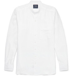 Drake's Slim-Fit Grandad-Collar Linen Shirt
