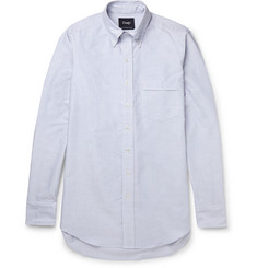 Drake's Slim-Fit Striped Cotton Oxford Shirt