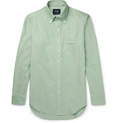 Drake's Slim-Fit Slub Cotton Oxford Shirt