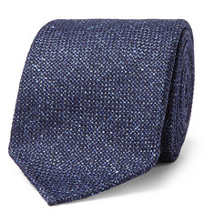 Drake's - 8cm Mélange Wool, Silk and Linen-Blend Tie