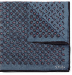 Drake's - Paisley-Print Cotton and Silk-Blend Pocket Square