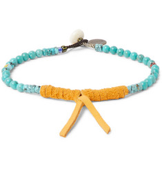 Mikia - Turquoise and Suede Bracelet