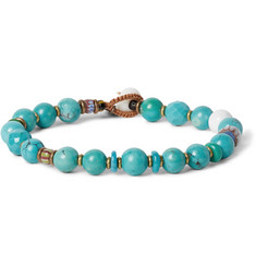 Mikia Turquoise and Beaded Bracelet
