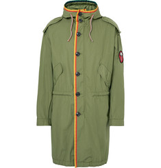 Marc Jacobs - Oversized Grosgrain-Trimmed Cotton-Ripstop Parka