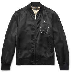 Marc Jacobs Embellished Satin Bomber Jacket